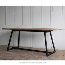 industrial vintage furniture wholesale dining table with reclaimed wood top