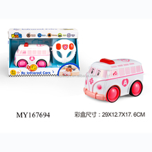 Kids plastic remoter control Infrared car mini lovely cartoon toy car for best price