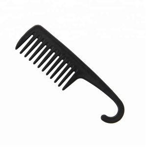 Large Wide Tooth Comb Professional Styling Brush Detangling Comb With Hook