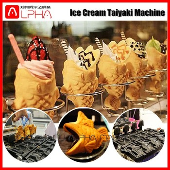 New Style Fish Shape With Open Mouth Taiyaki Maker Machine For