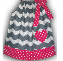 2014 newest lovely New Design stripe with love pattern pillowcase dress for baby
