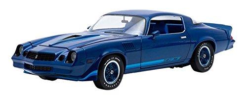 1979 Chevrolet Camaro Z/28 Dark Blue Metallic with Blue Stripes 1/18 by Greenlight 12904
