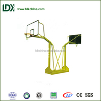 Outdoor moveable safety public used double basketball stand