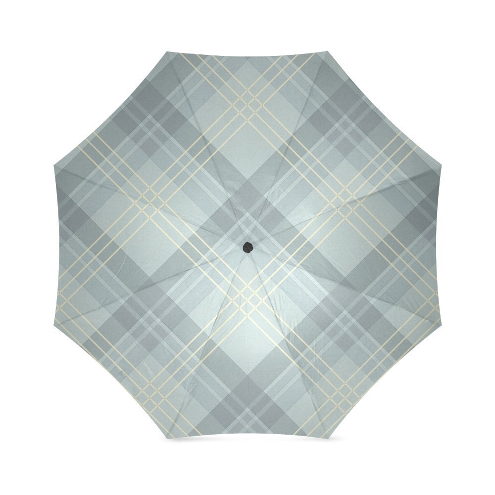 Scottish Tartan Plaid Pattern Folding Rain Umbrella Parasol Windproof Travel Sun Umbrella Compact