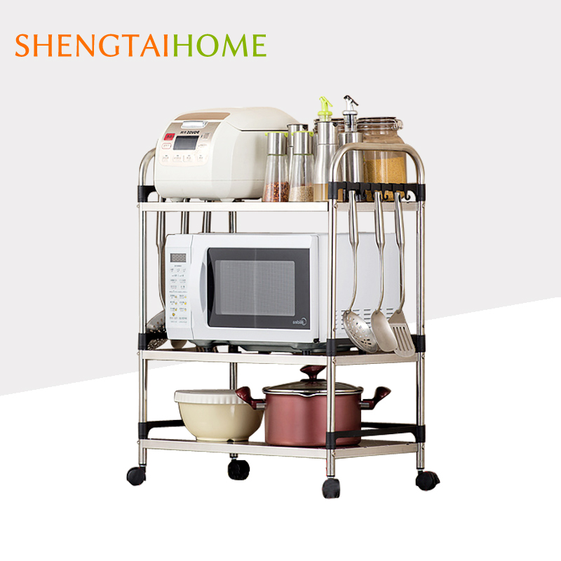 Factory Manufacturer Kitchen Stainless Steel Thickness Table Ware Microwave Oven Storage Rack