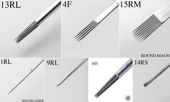 Tattoo Round Shader Needles 3rs/4rs/5rs/7rs/8rs/9rs/10rs/11rs/13rs ...