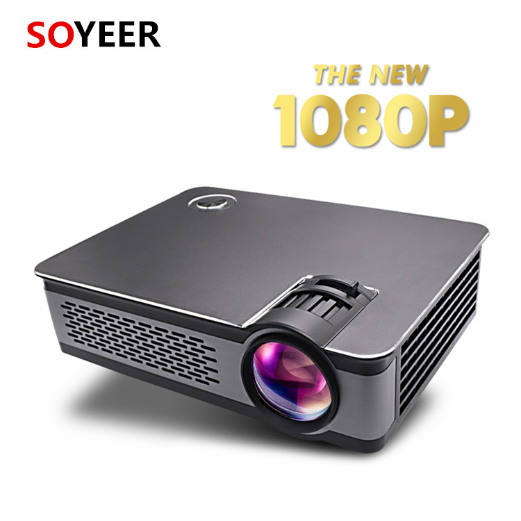 Soyeer 1080p Home Projector with LED lamp support WXGA/1920 x 1080P Pixels 1500:1 Contrast 200 lumens mini projector
