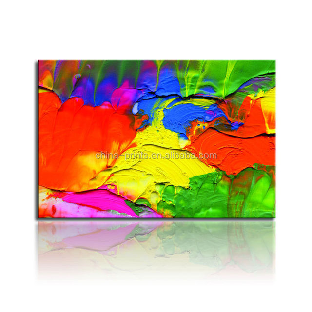 Colorful Abstract Oil Painting Dropshipping Canvas Print Paypal Wall Hanging Art