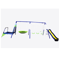 Top Grade 7 station outdoor Metal swing sets for kids LS-SW31049