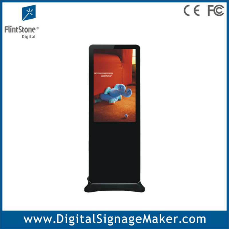 Shopping center floor standing vertical screen 42 inch 1080P HD lcd advertising player/digital signage/monitor/display