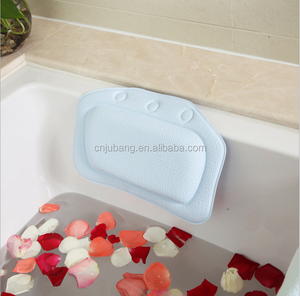 Hot selling Soft cushioned bath tub spa bath pillow / bathroom Headrest pillow / inflatable bath tub pillow