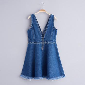 251d154388 Z92607A 2017 New Spring Model Girl s Jeans Dress Sleeveless Baby Jeans Dress  Children Frock Designs Dress