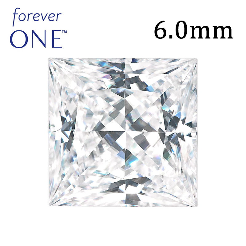 1Ct 6mm VVS D Color Princess Cut Charles Colvard Moissanite <strong>Diamond</strong> For Ring