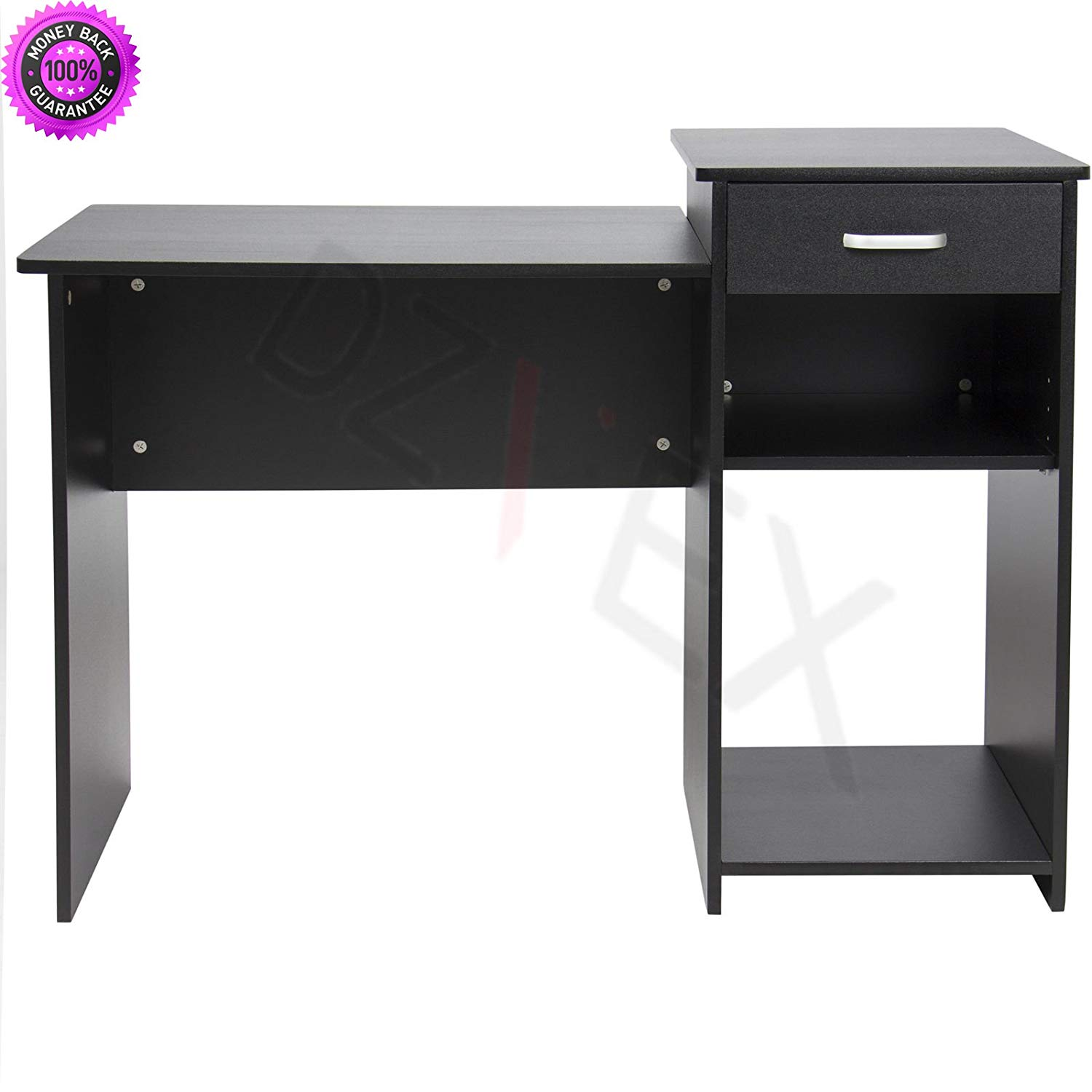 DzVeX_Student Computer Desk Home Office Wood Laptop Table Workstation Dorm - Black This desk will comfortably fit in your dorm room, office, or home. It is the perfect work desk to focus and finish