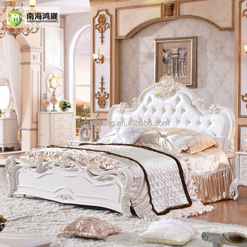 Classical European Style Furniture Set King Size Bed Designs
