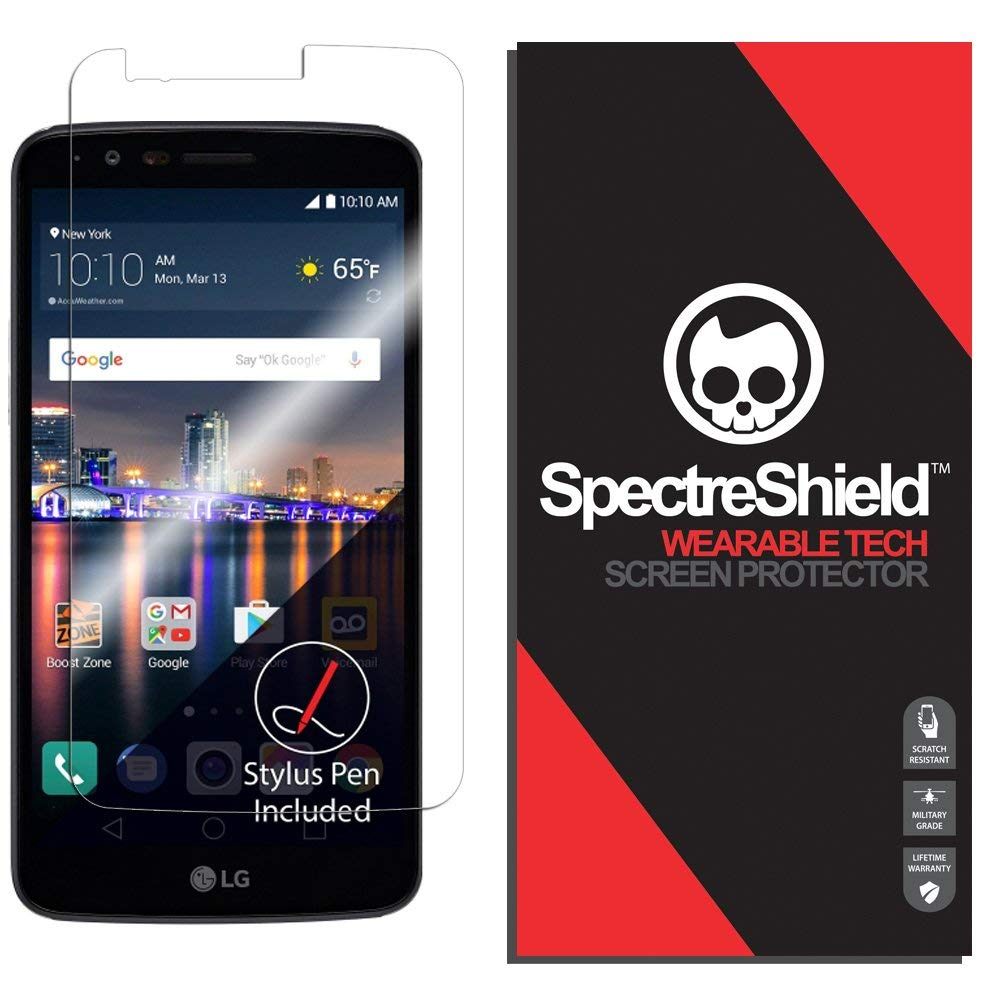 Screen Protector Compatible with LG Stylo 3 by Spectre Shield (Wearable Tech) Flexible Full Coverage Invisible HD Clear Anti-Bubble Anti-Scratch