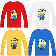 Despicable me Long Sleeve t shirt Children Minions Boys Clothes T-Shirts For Girls Boys t shirts Kids Baby Children's Clothing