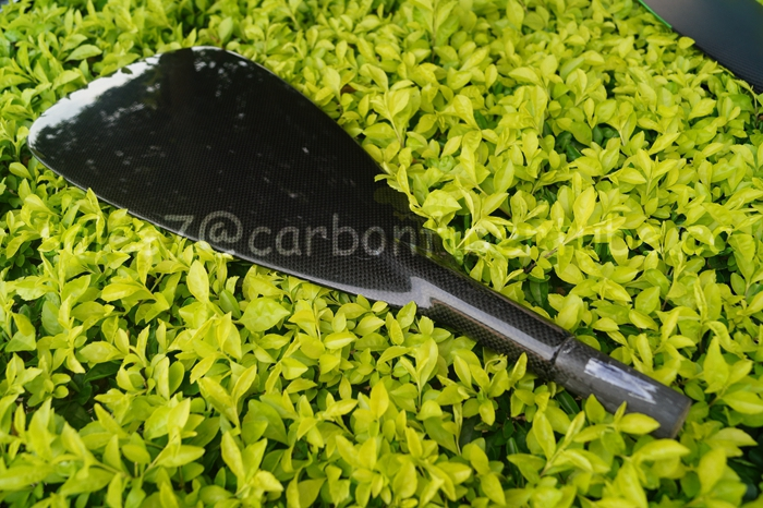 lightest sup paddle carbon fiber paddle shaft carbon fiber oars sculls with 3K or bamboo surface