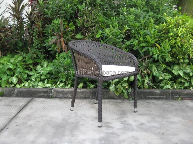 Modern & contemporary look outdoor rattan wicker dining chiar