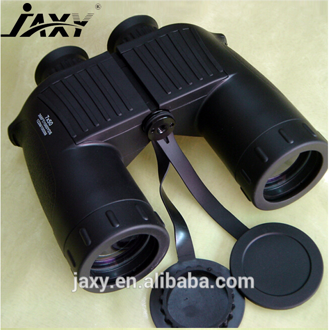 2015 new arrived 7X50 waterproof marine brand binoculars brass telescope with stand