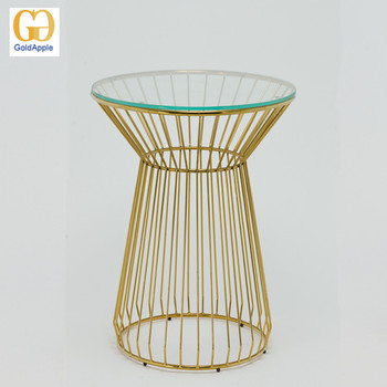 Metal Wire Frame Tempered Glass Cafe Table,Glass Top Dining Round Wire Base  Table   Buy Wire Round Table,Glass Table,Glass Top Metal Frame Dining ...