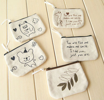 Cute Small Canvas Zipper Pouch Wholesale - Buy Small Canvas Zipper ...