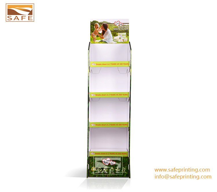good quality corrugated cardboard advertising makeup display stand