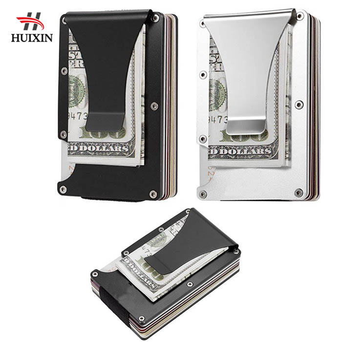 Metal Slim Carbon Fiber Credit Card Holder RFID Blocking Wallet Clip Purse GF