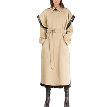 OEM <span class=keywords><strong>Donne</strong></span> di Grandi Dimensioni Beige Con Cintura Trench Coat