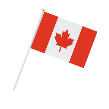 Wholesale Custom Small Polyester National Country Canadian Polyester Canada Hand Held Flag