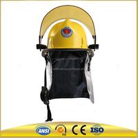 Yellow FRP fiberglass american fireman Safety firefighter Helmet High temperature hard hat