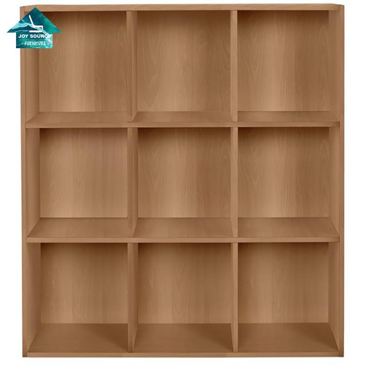 wholesale custom made bookshelf wooden living room nine cube bookcase