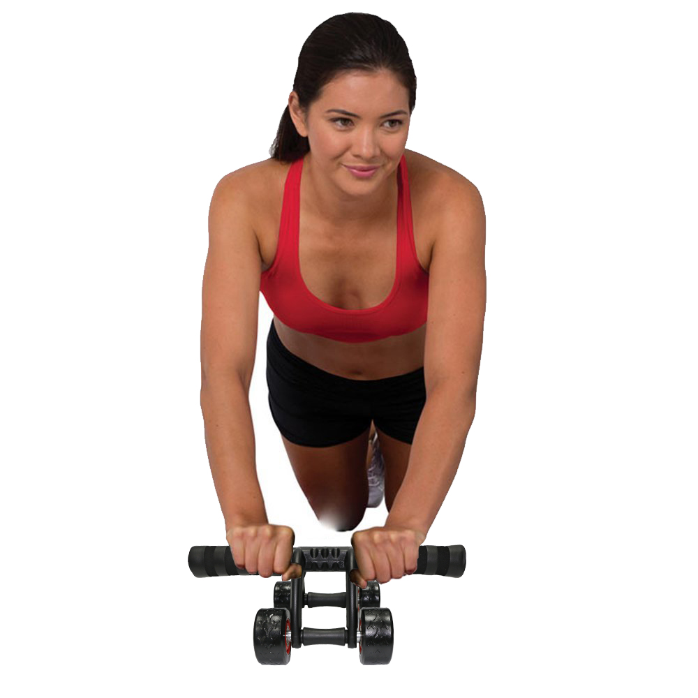 4 Wheels Abdominal Roller with Non Skid Wheels for Better Balance in Workout to Reduce Belly Fat 16