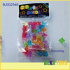 Beautiful kids DIY large beads crystal clear acrylic beads four leaf clover beads
