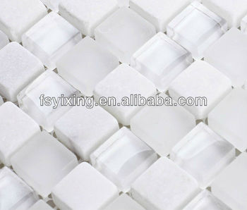 Py010 Glass White Elegance Crystal Mix Marble Mosaic Tiles Bathroom Buy Glass And Stone Mosaic Tile Glass Mosaic Glass White Mosaic Bathroom Product