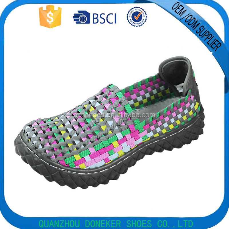 fashion woven flat atmosphere shoes