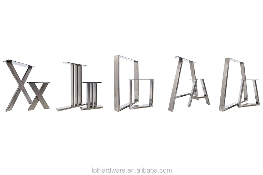 2016 nouveau X conception meubles en métal accessoire fer pieds de table en métal ...