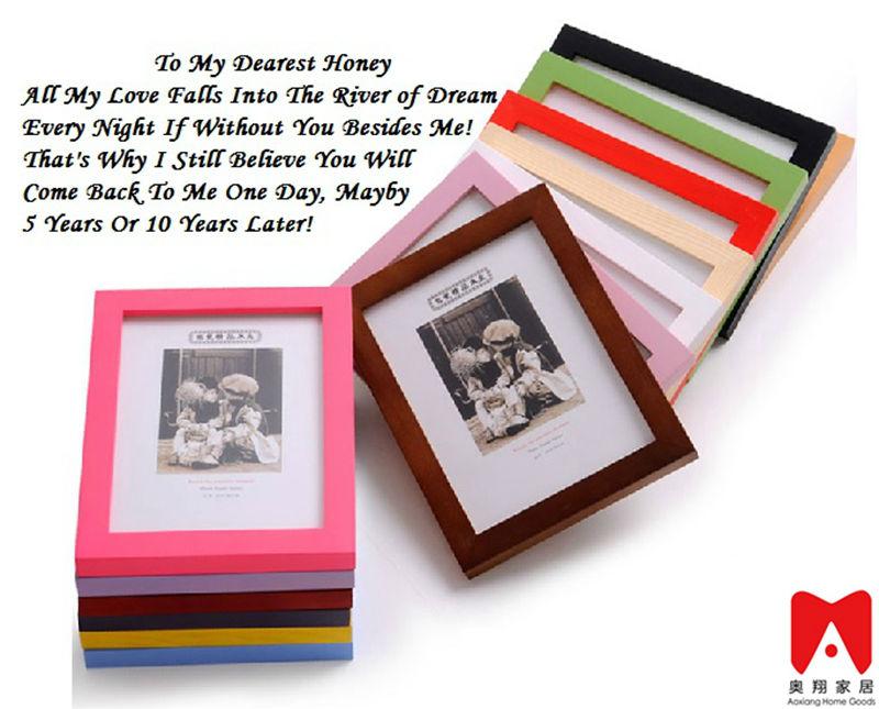4x6 5x7 6x8 8x10 ps de madera o mdf imagen marco de fotos para de la ...