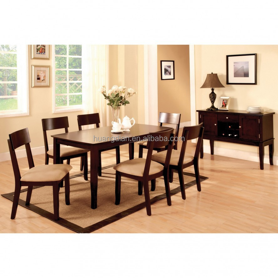 dark wood dining chairs. Dark Wood Dining Table Set Brown Color Wooden Floor DT4001 Chairs C