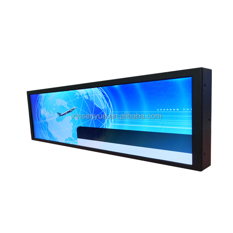 Metros Video Advertising TV Electronic Bus Stretched Bar LCD TFT <strong>Monitor</strong>