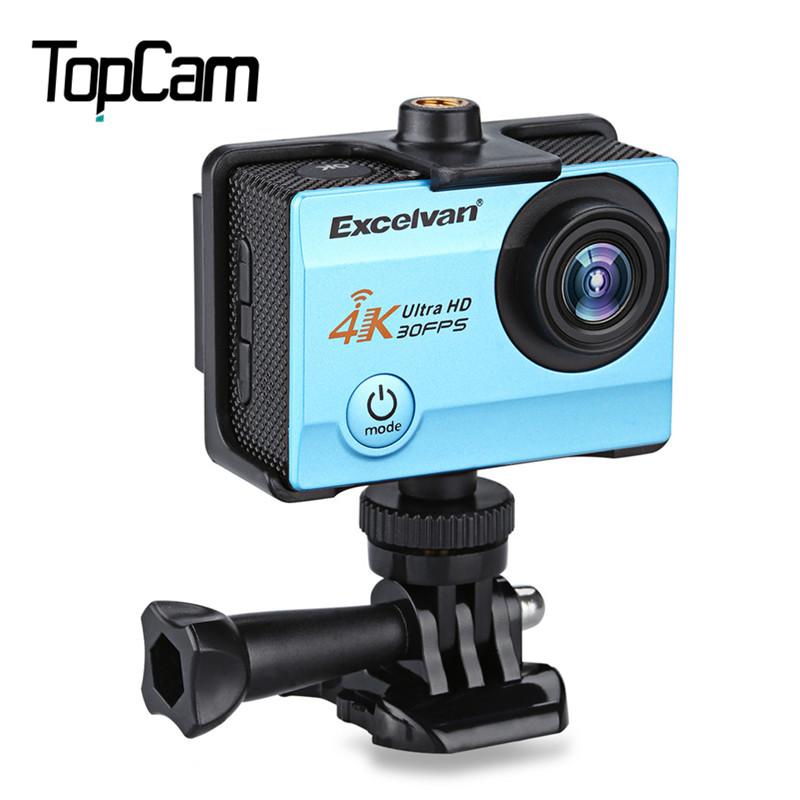 Excelvan Q8 2.0 дюймов WiFi 4 К 30FPS 16MP H.264 30 м Водонепроницаемый 170 Градусов Рыбий Глаз Широкоугольный Объектив Действий Dv Камеры синий