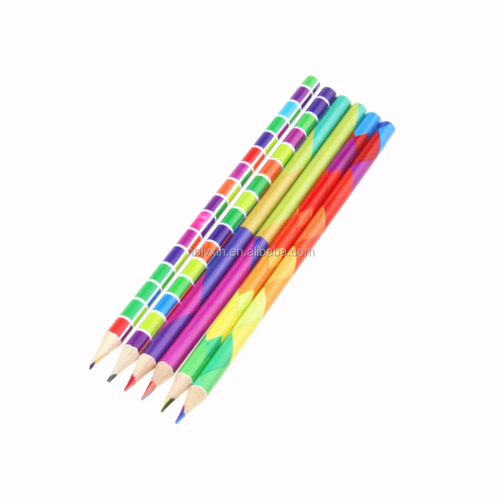 4 in 1 Rainbow Colors Color Pencil