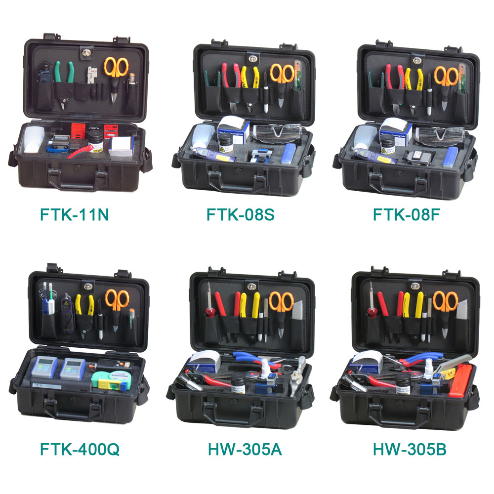 FTTH Assembly Stripping Splicing Termination Fiber Optic Tool Kit