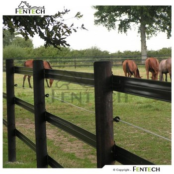 Hot Sell Cheap Vinyl Fence Plastic Horse Fencing Black
