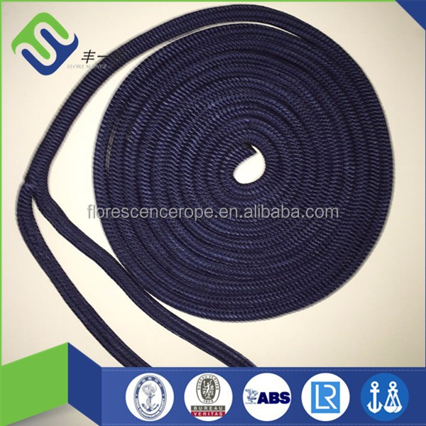 high strength double braided nylon dock line rope boats used