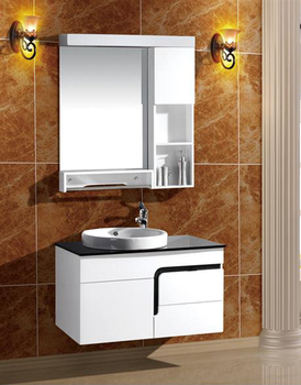 Modern Wall Mounted Cheap Price White Waterproof Pvc 36 Bathroom Vanity Cabinet With Wash Basin Buy Bathroom Vanity Cabinet Modern Bathroom