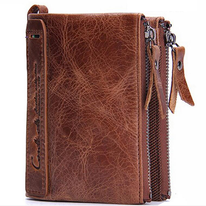 2017 fashion genuine leather men <strong>wallets</strong> hot sale Boy's money purse brand men's bag