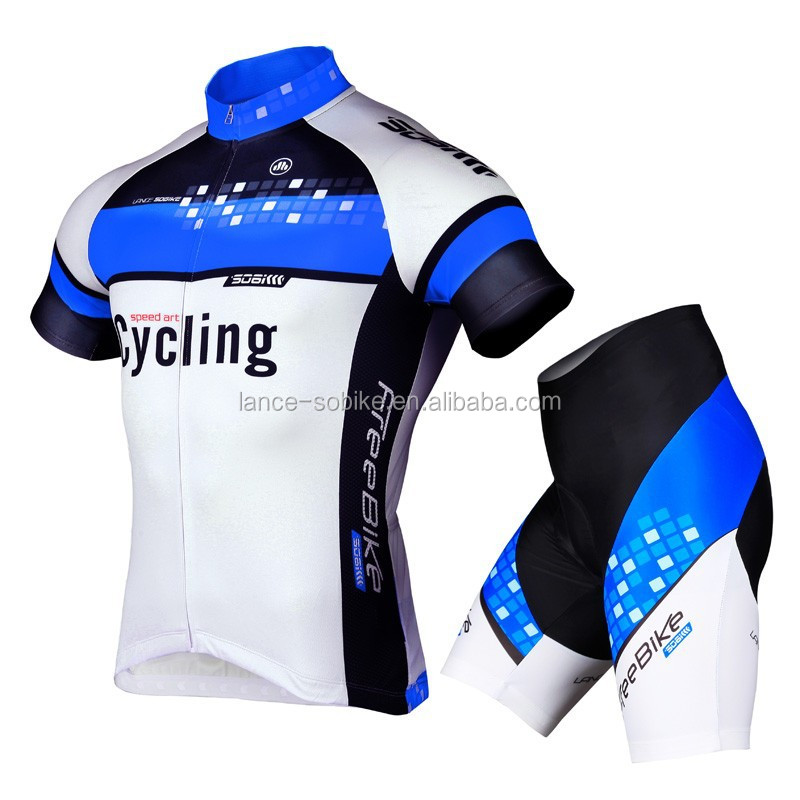 Soomom cycling jersey short set/summer cycling sets/sublimated cycling jersey sets/cycling light sets red/blue