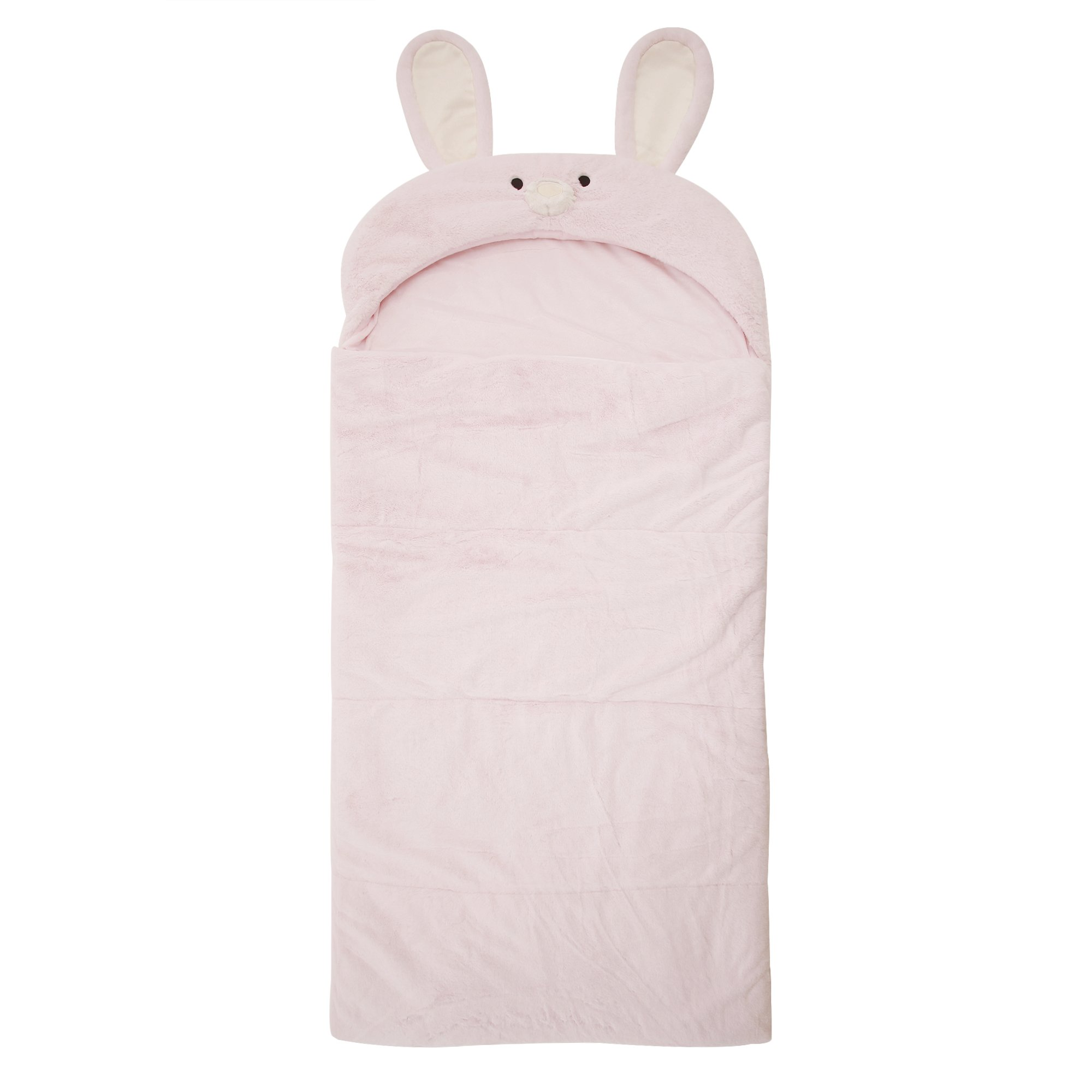 55c309d56c Get Quotations · Best Home Fashion Plush Faux Fur Hooded Rabbit Animal  Sleeping Bag - Pink - 27
