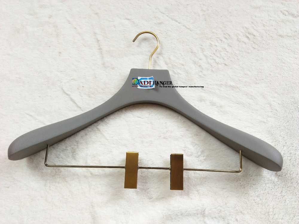 Luxury wooden rubber coated clothes hanger